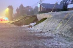 Zaplavená ulice ve městě Vestavia