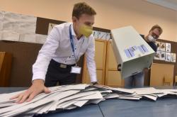 Sčítání hlasů v Ostravě