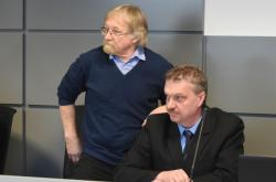 Vladimír Líčeník (vlevo) a Luděk Konvička u soudu v roce 2017