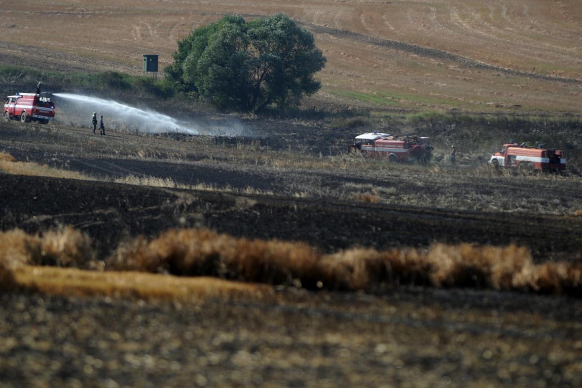 Likvidace požáru u Bavorova na Strakonicku