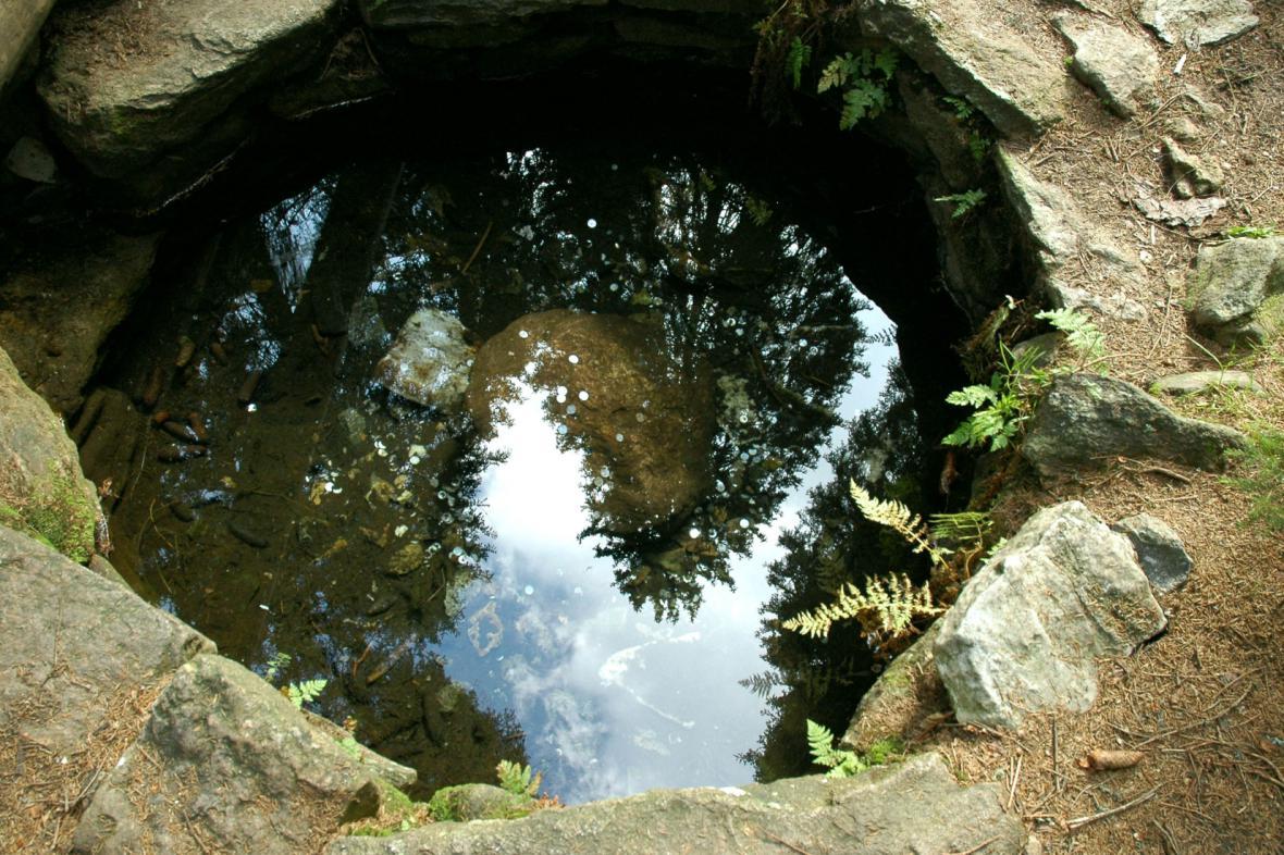 Jedno z pramenišť Vltavy