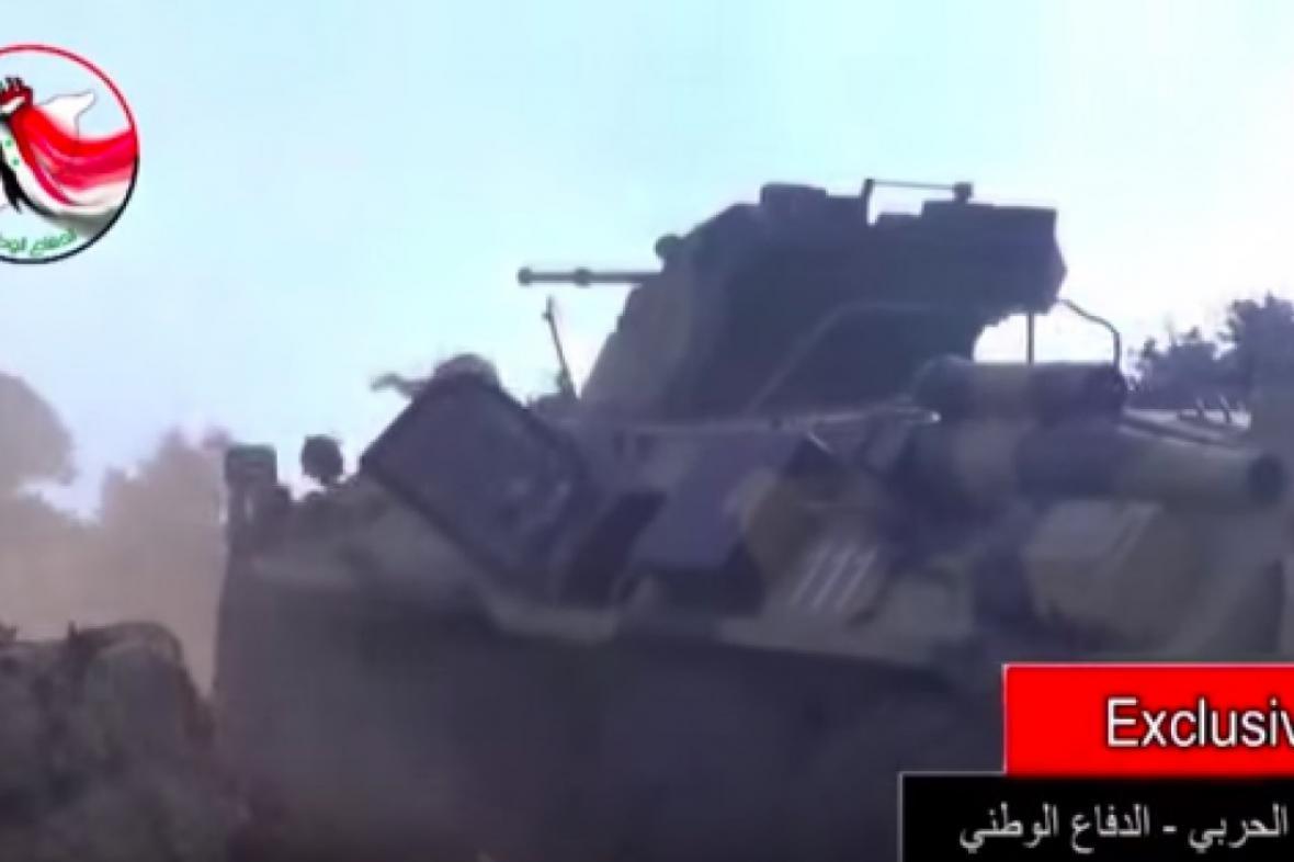 Ruský obrněný transportér BTR-82A údajně spatřený v Sýrii