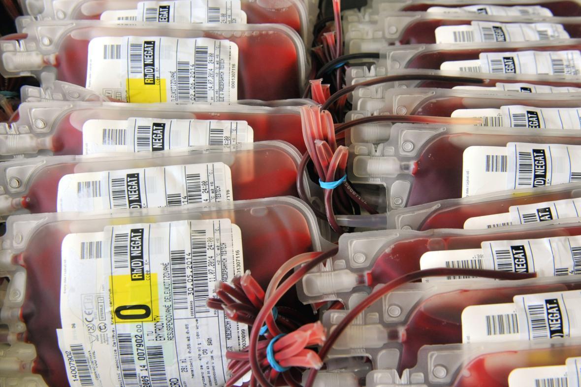 Krevní konzervy - ilustrační fotografie