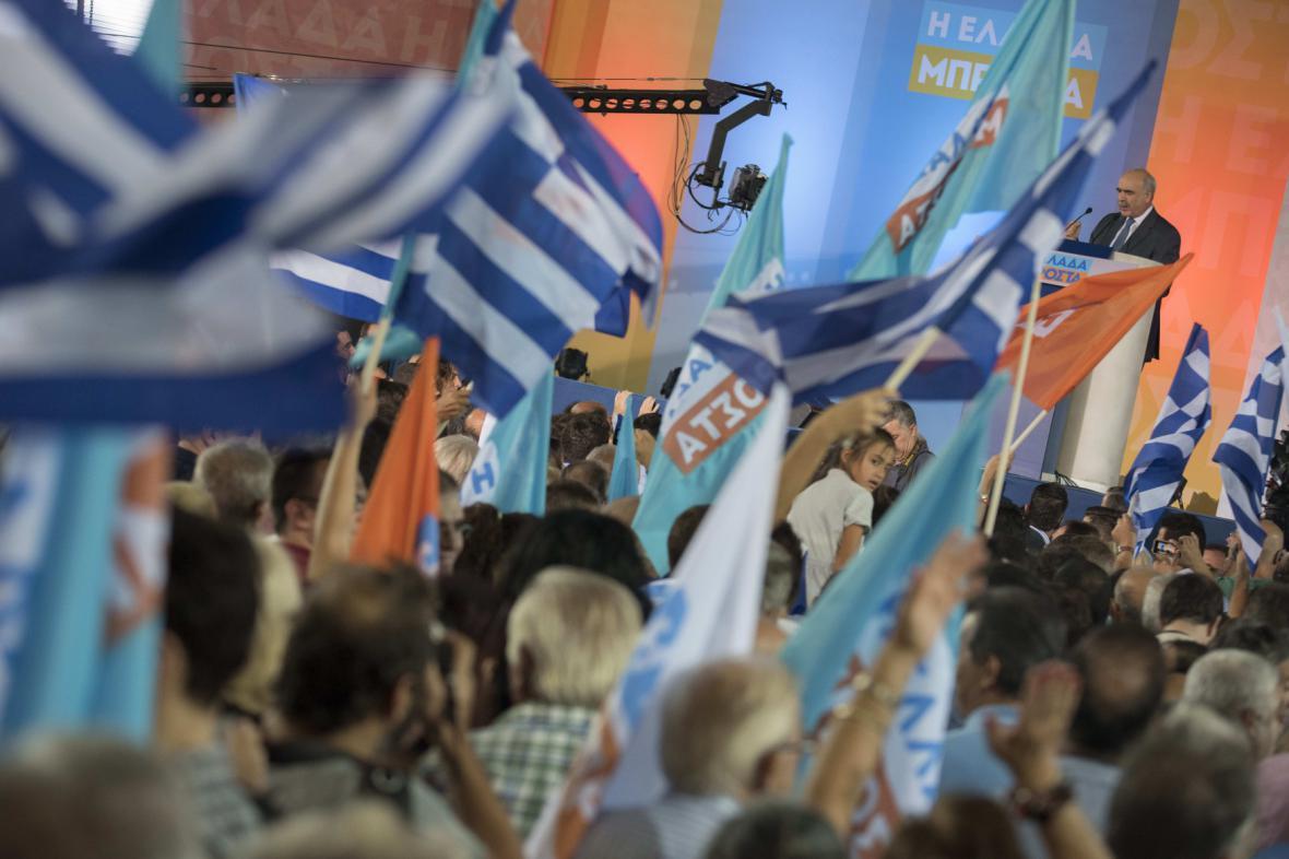 Přívrženci řecké Nové demokracie