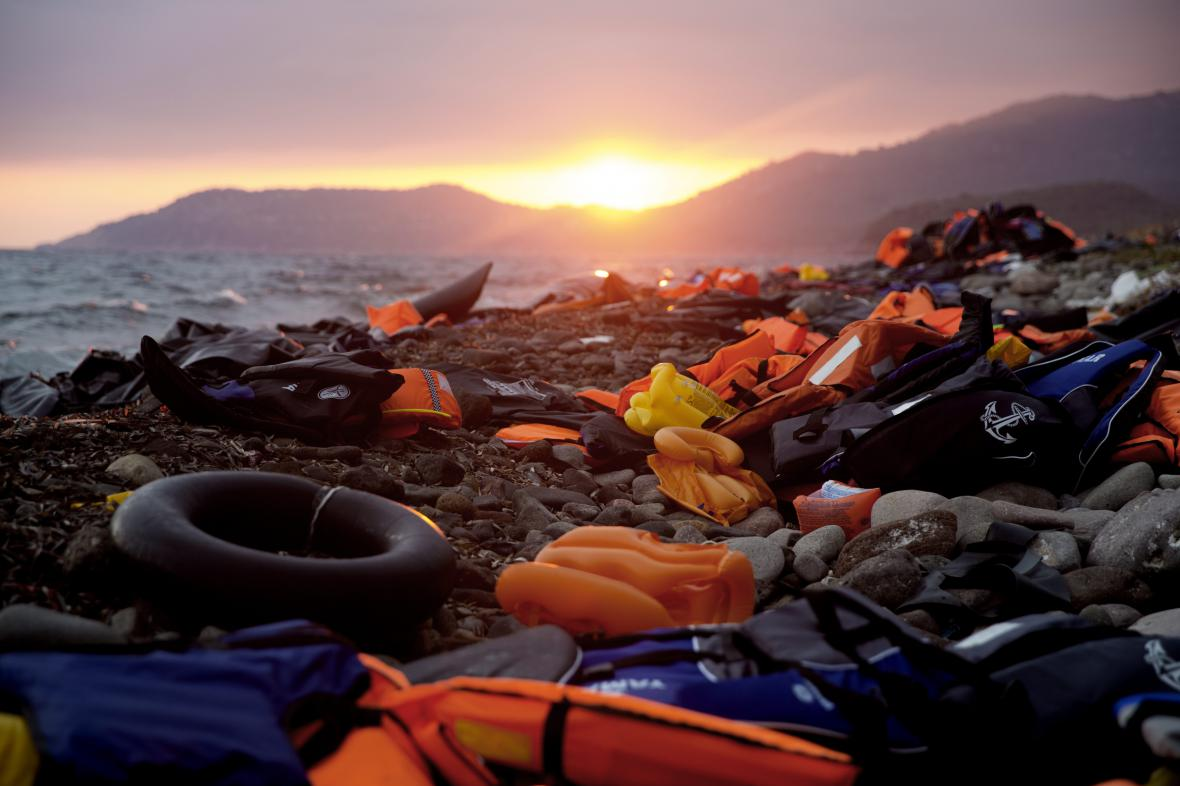 Pláž ostrova Lesbos