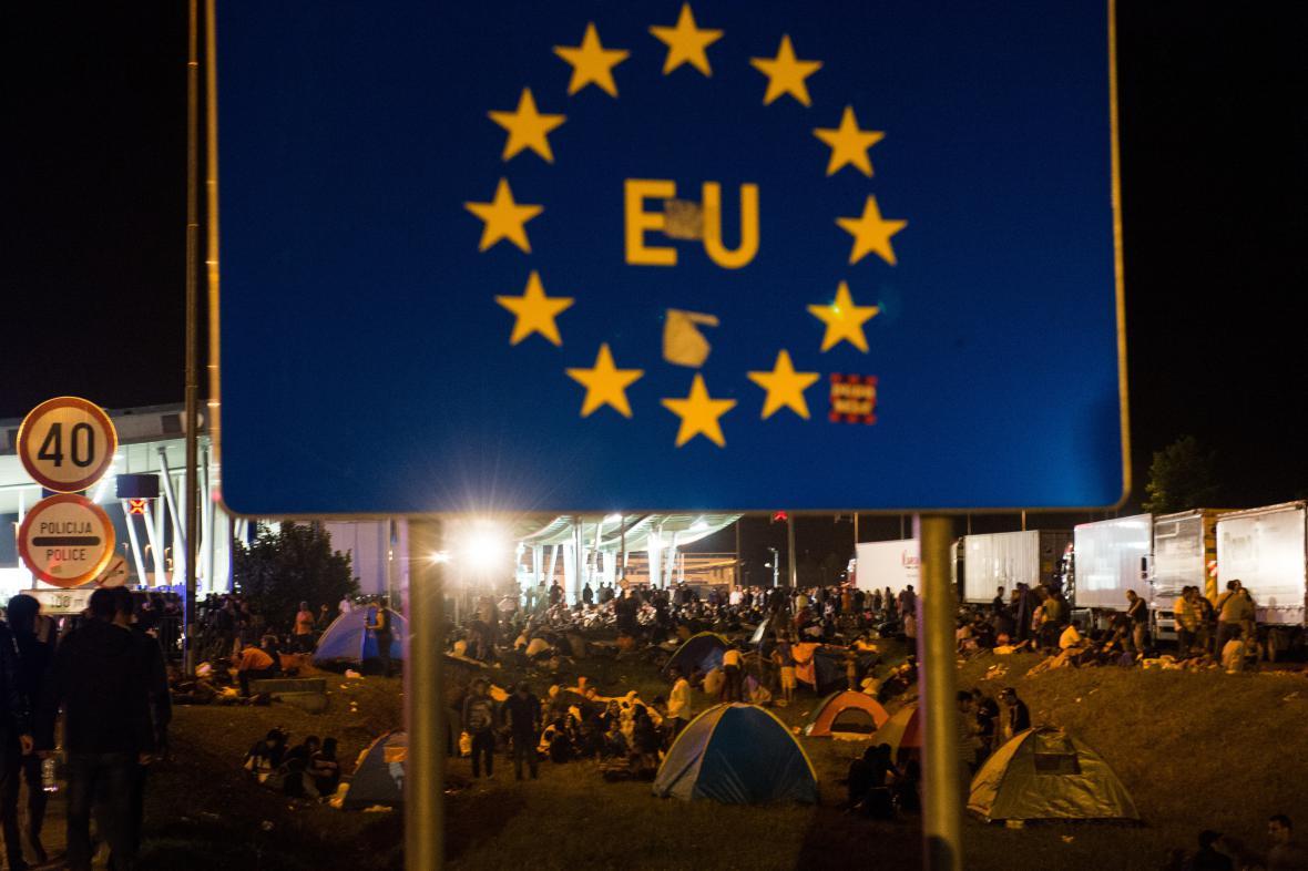 Uprchlický tábor u chorvatsko-slovinské hranice