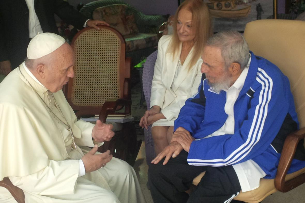 Papež František a Fidel Castro