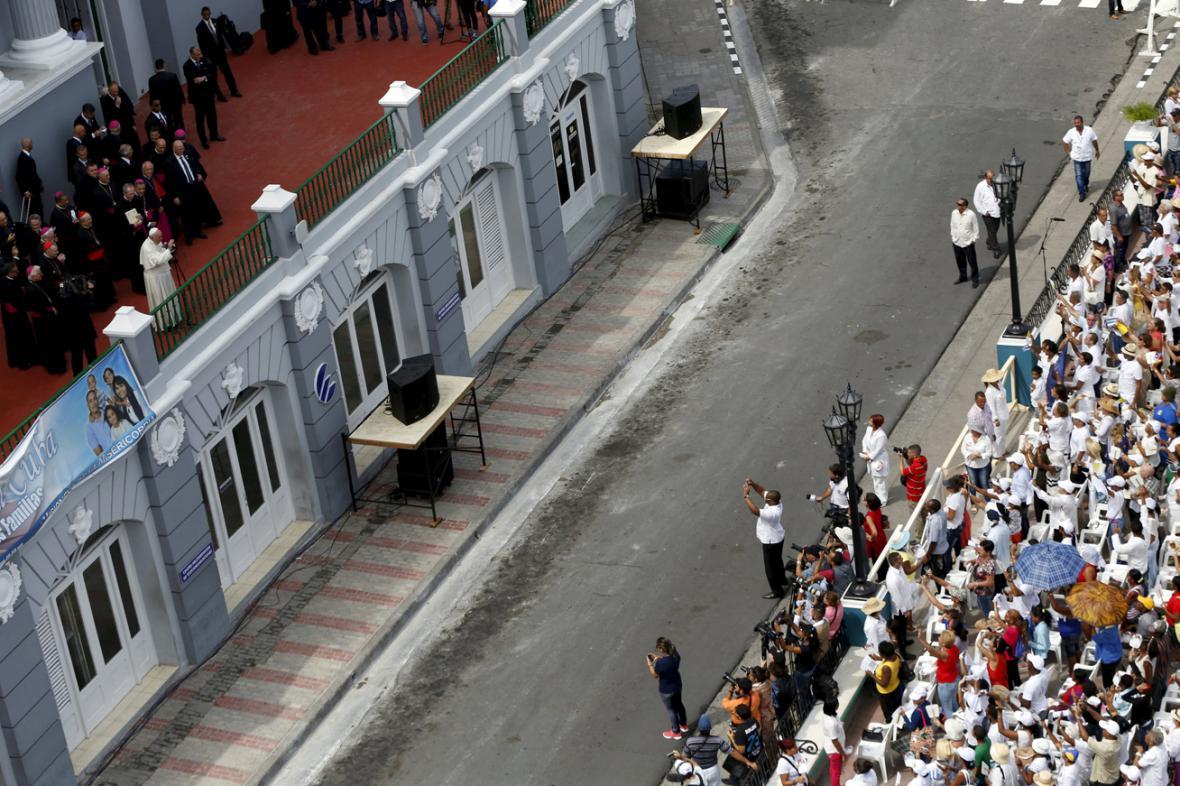 Papež František v Santiagu de Cuba