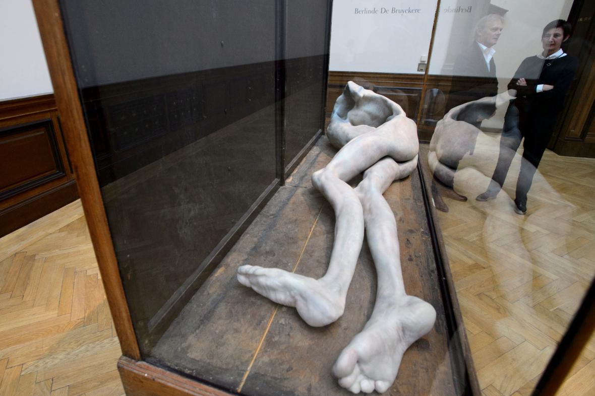 Výstava Flaesh, plastika belgické umělkyně Berlinde De Bruyckereové
