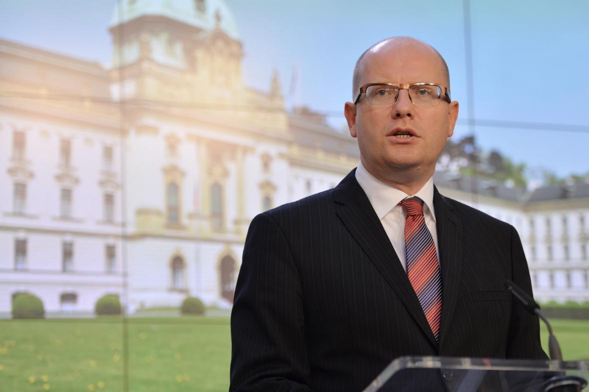 Předseda vlády Bohuslav Sobotka