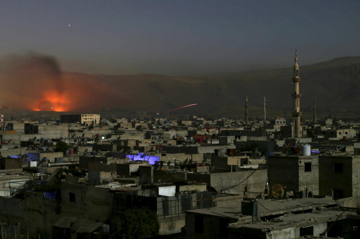 Boje v syrském Damašku