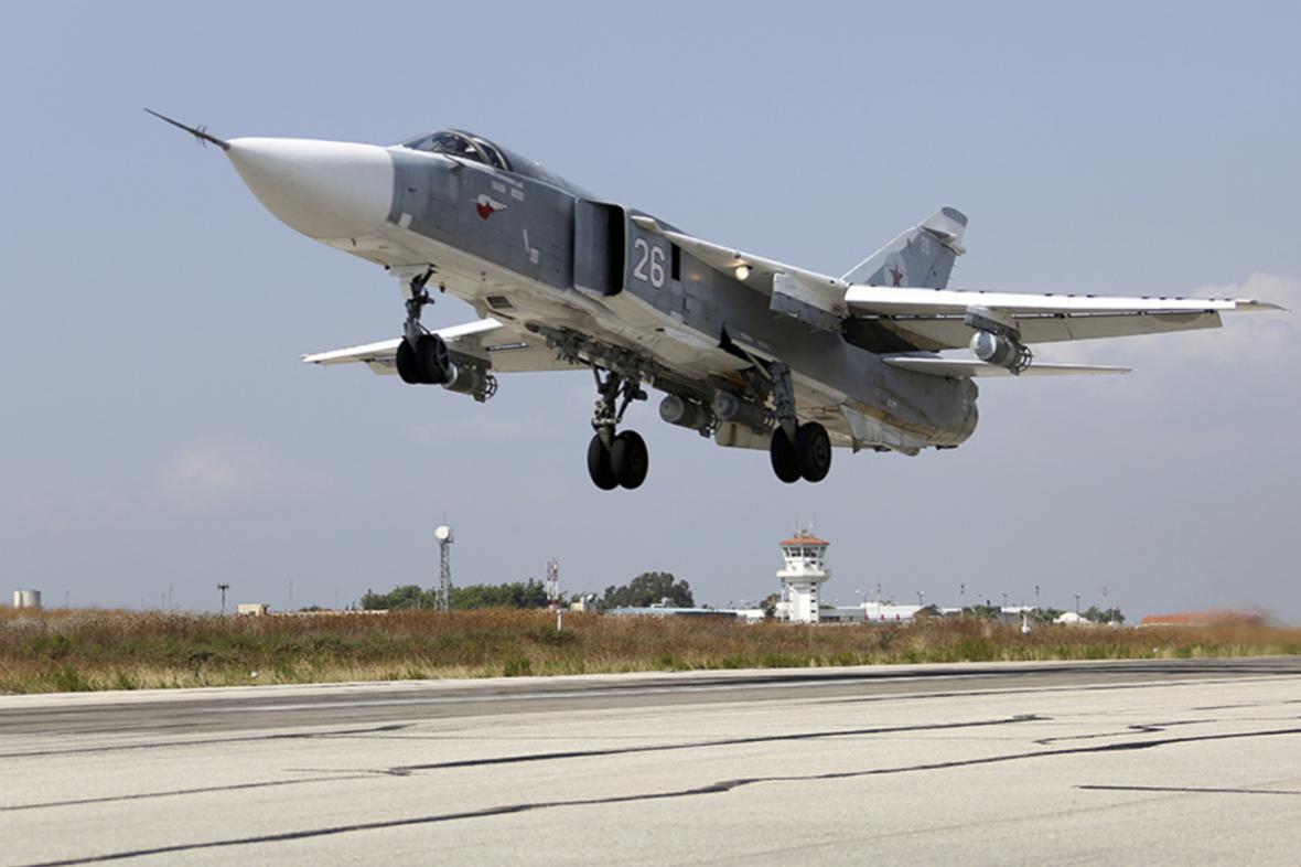 Ruská stíhačka v Sýrii