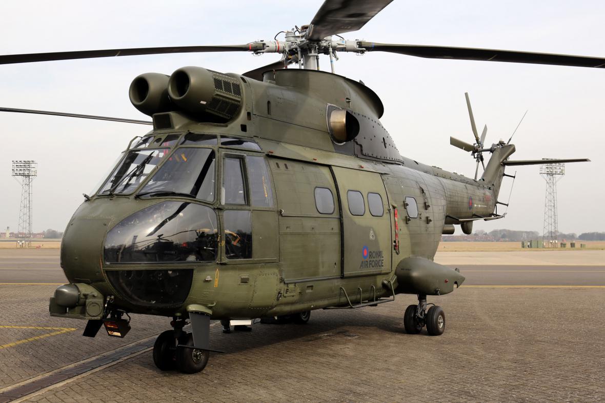Vrtulník Puma Mk2 britského vojenského letectva