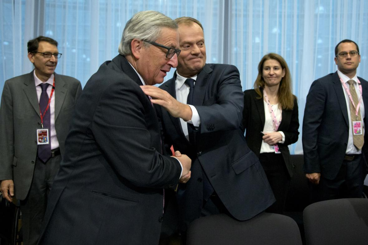 Jean-Claude Juncker a Donald Tusk