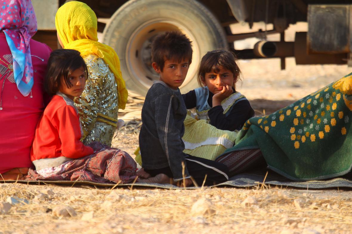 Uprchlíci z Aleppa
