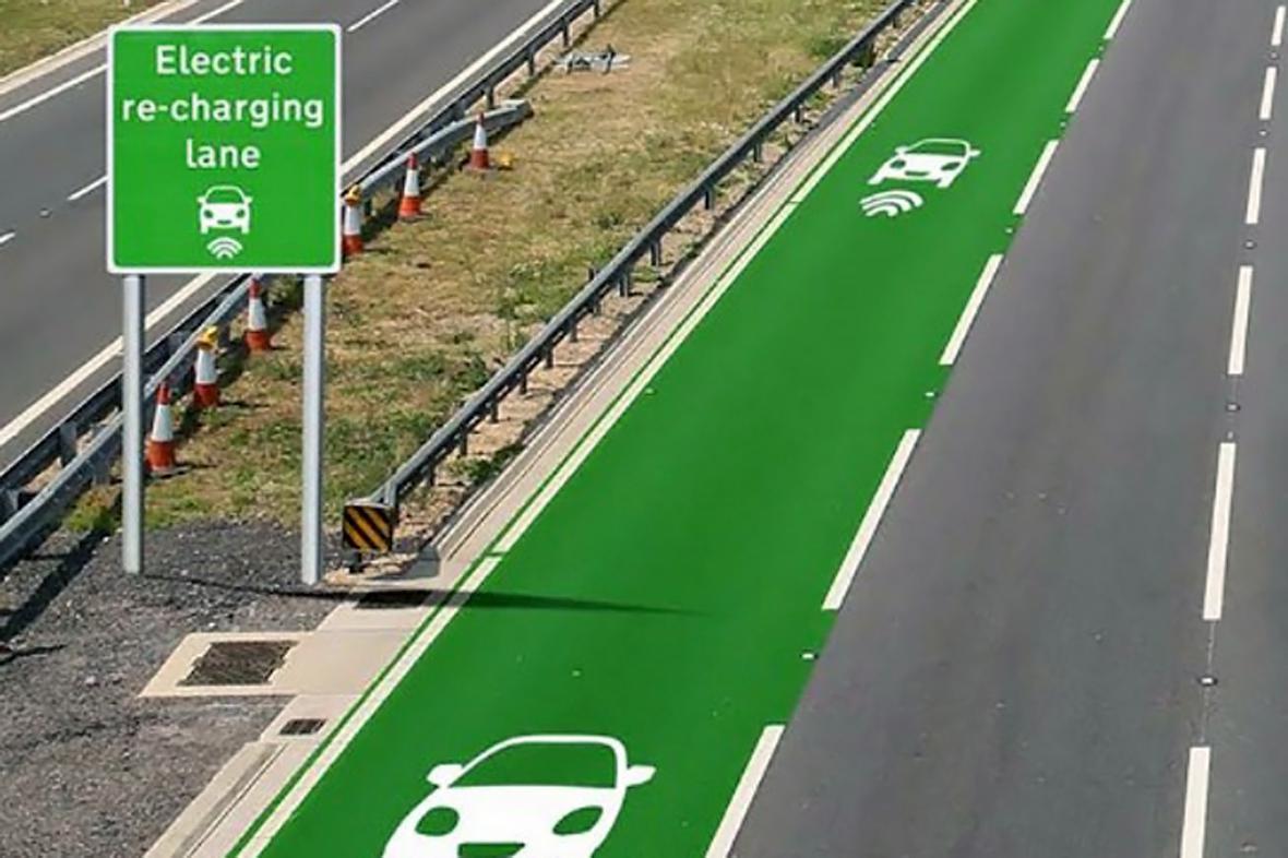 Pruh pro nabíjení elektromobilů za jízdy