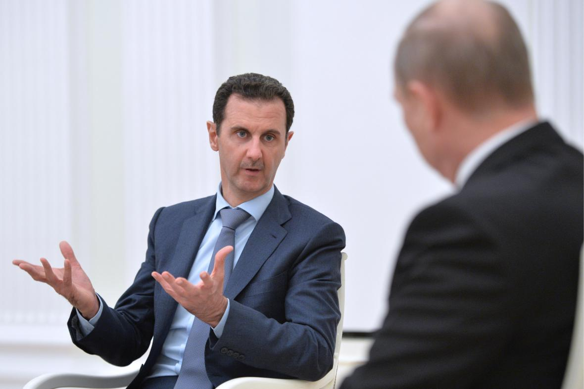 Bašár Asad na návštěvě Moskvy