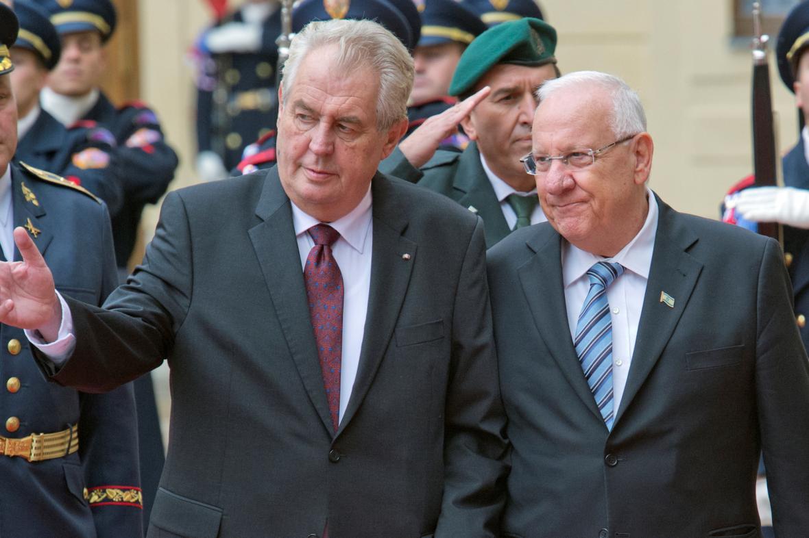 Miloš Zeman a Reuven RIvlin
