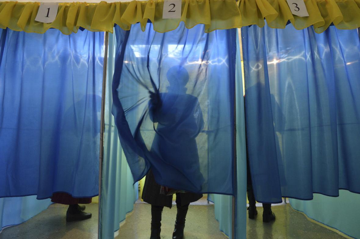 Volební místnost v Kramatorsku