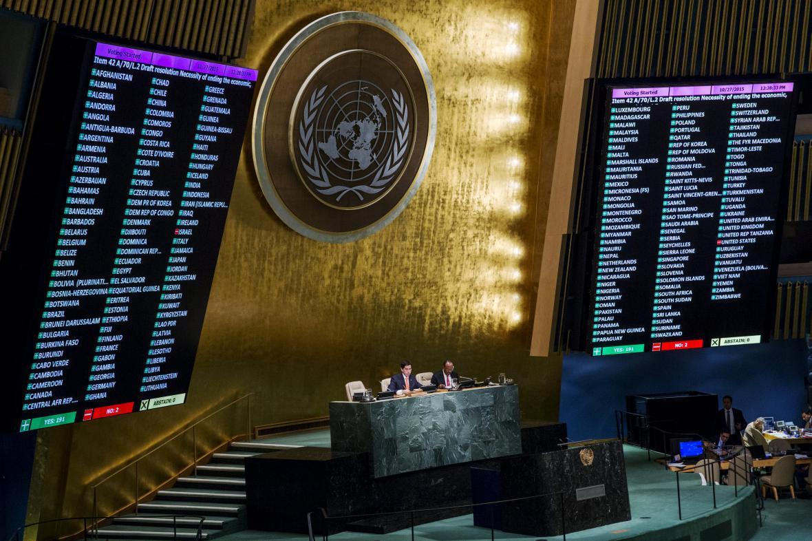 Hlasování VS OSN o americkém embargu vůči Kubě
