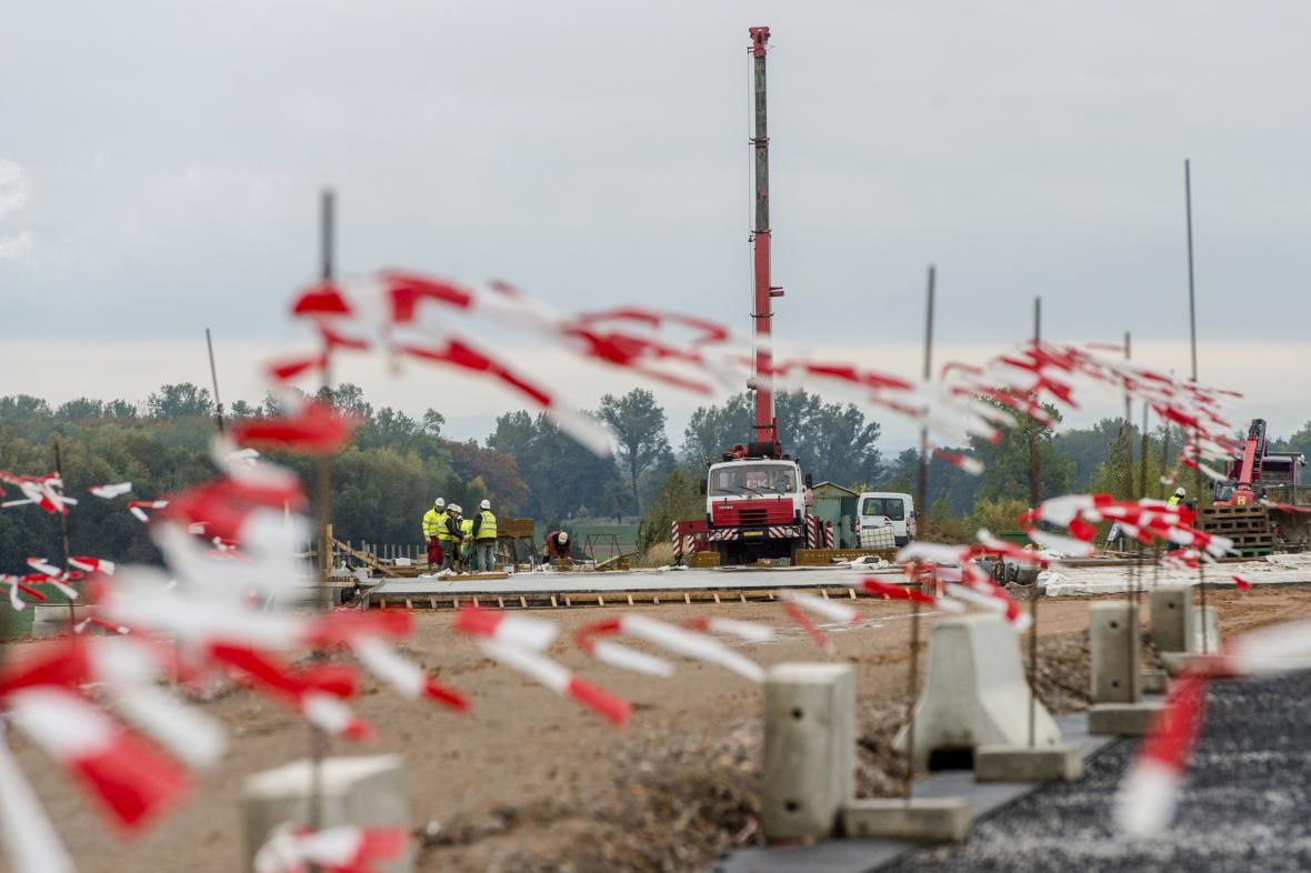 Úsek stavby dálnice D 11
