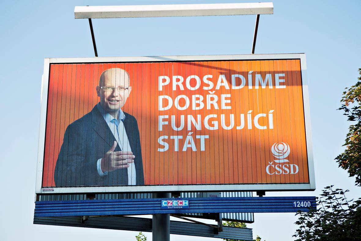 Billboard ČSSD v kampani před volbami do Sněmovny v roce 2014