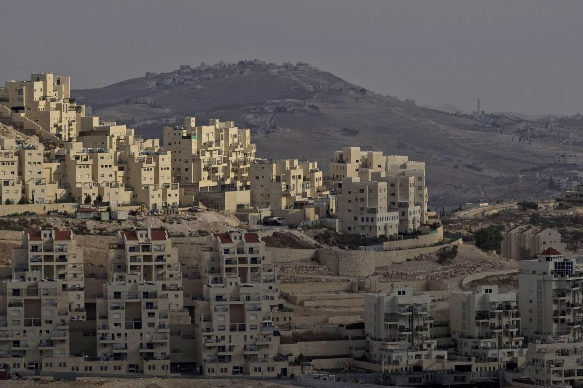 Židovská osada Har Homa na Západním břehu Jordánu