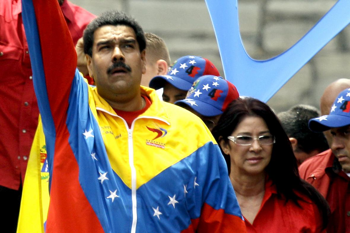 Nicolás Maduro a Cilia Floresová