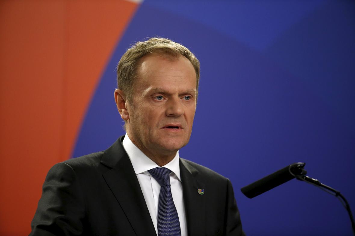 Donald Tusk na brífinku po skončení maltského summitu
