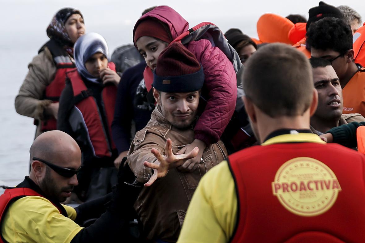 Záchranáři na Lesbosu