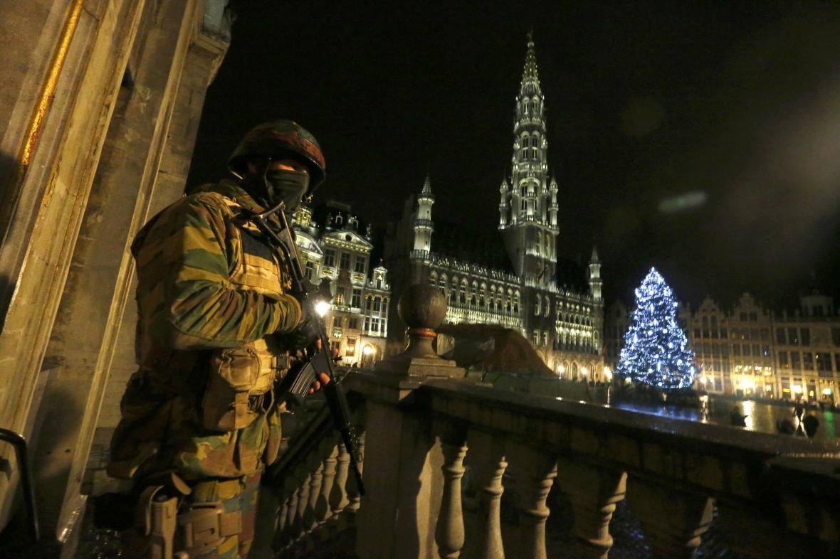 Belgický voják v Bruselu