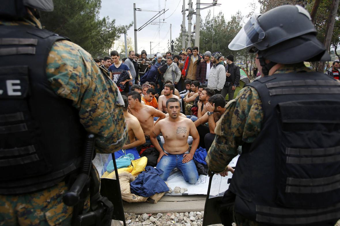 Protest migrantů v Makedonii