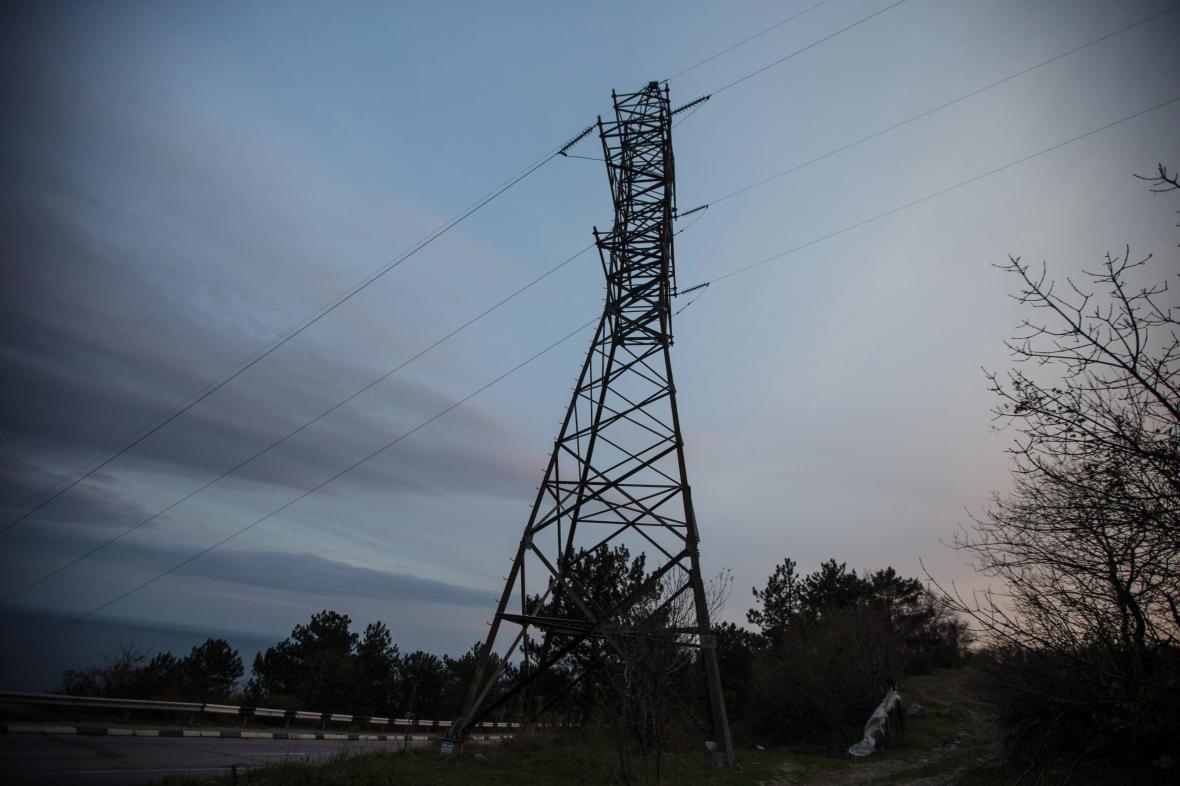 Elektrické vedení na Krymu