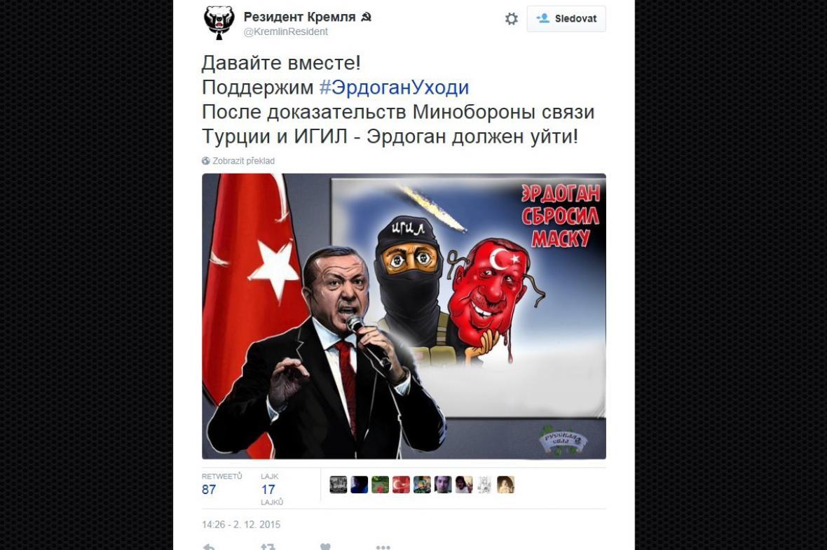 Rusové obviňují Erdogana, že spolupracuje s IS