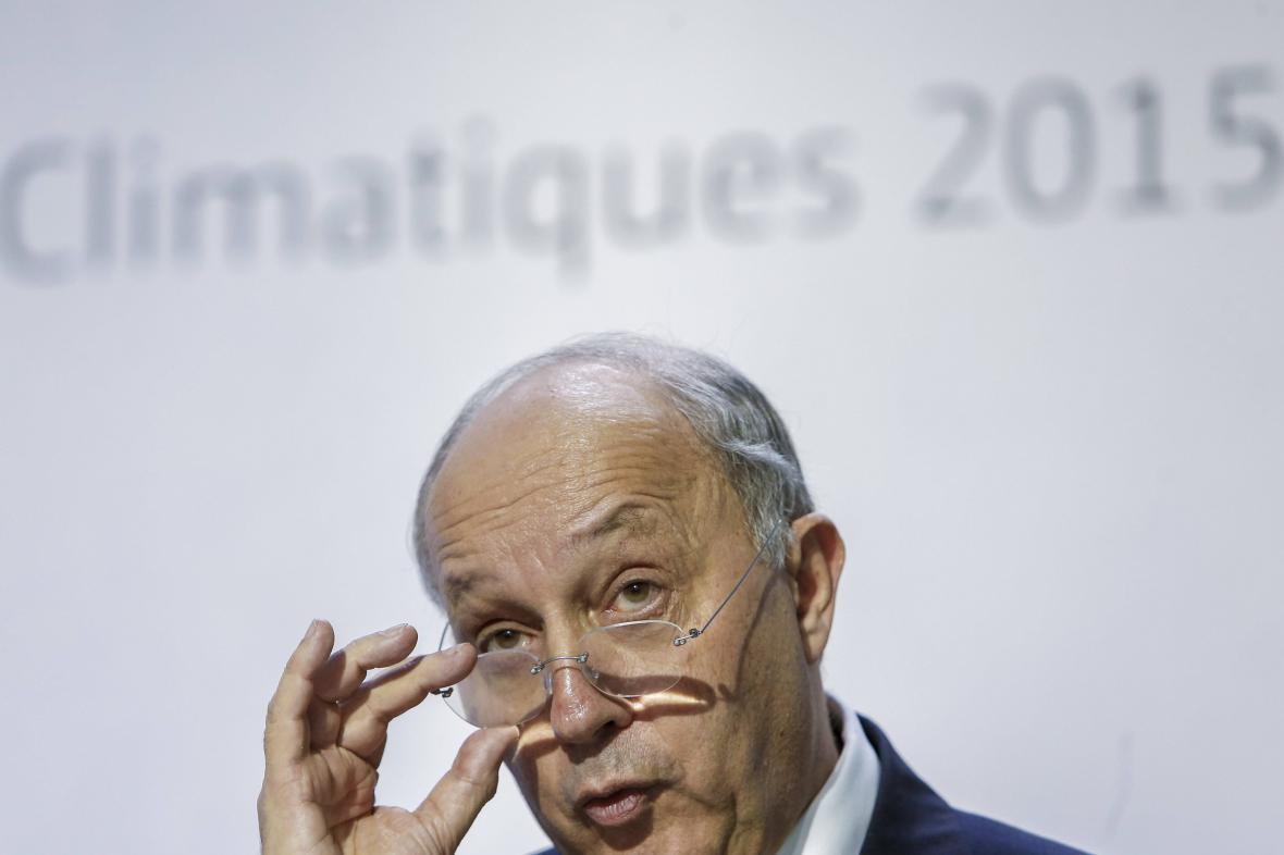 Laurent Fabius na konferenci COP21