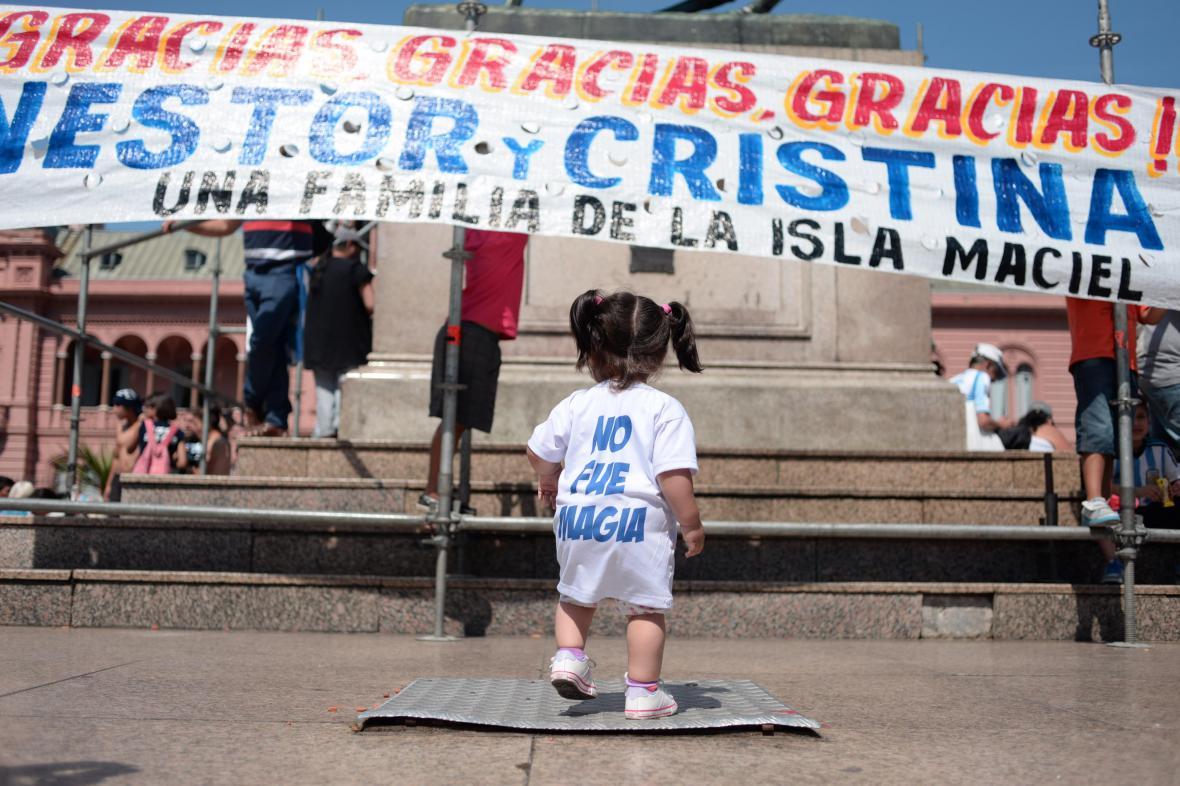 Argentina se loučí s prezidentkou Cristinou Fernándezovou Kirchnerovou