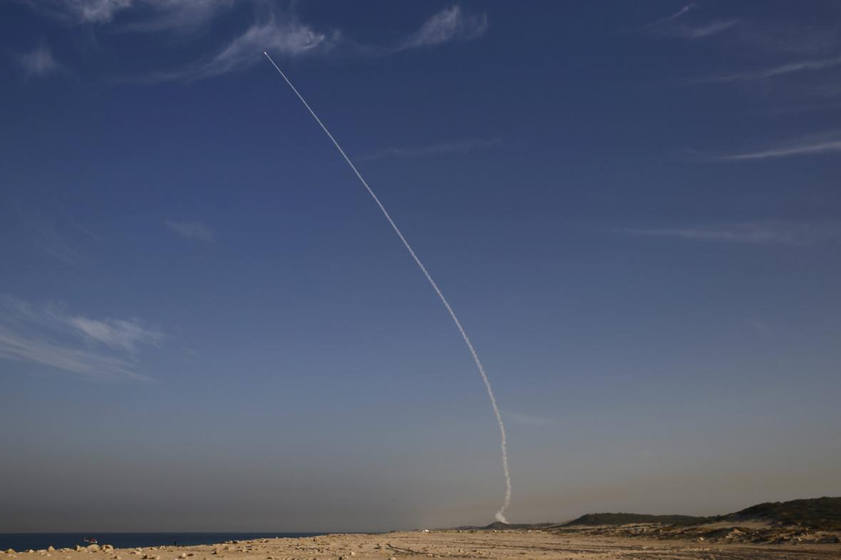 Test rakety Arrow 3