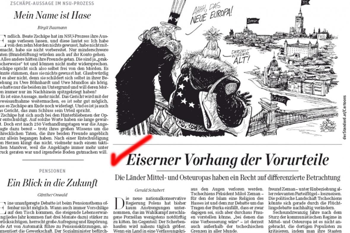 Der Standard: Železná opona předsudků