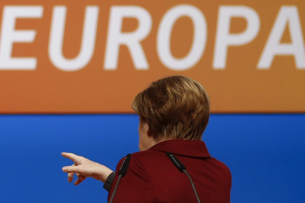 Angela Merkelová na sjezdu CDU