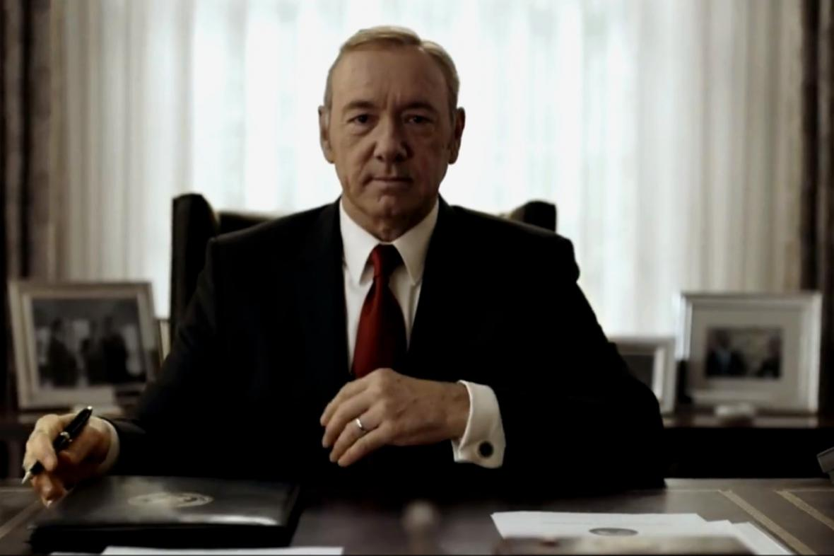 Kevin Spacey jako Frank underwood