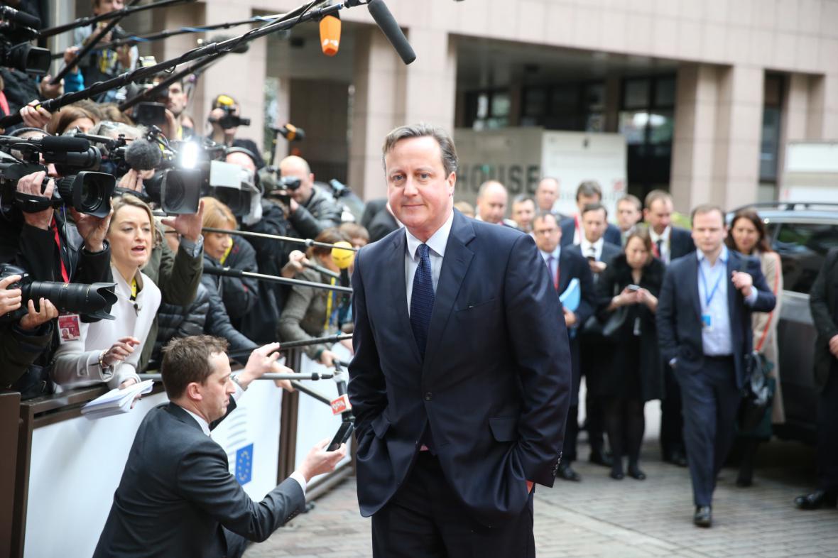 David Cameron na summitu EU