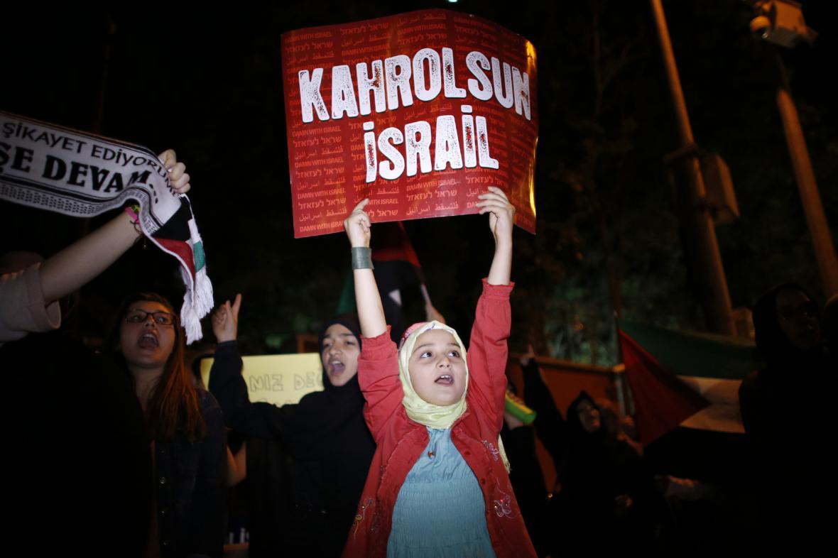 Protiizraelský protest v Turecku