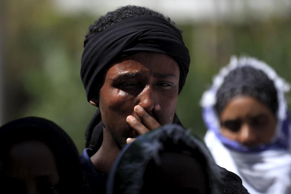 Etiopané na pohřbu jednoho z protestujících