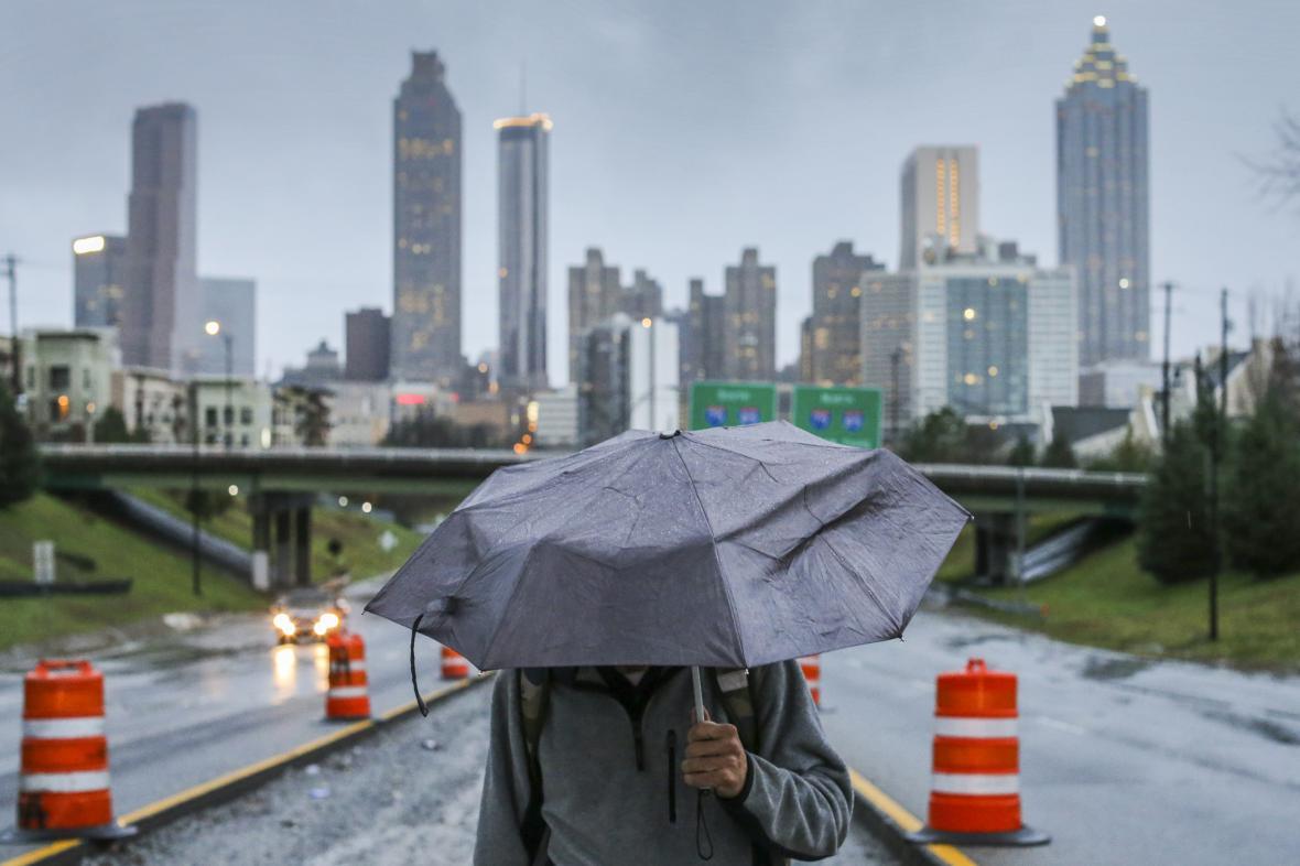 Bouře v Atlantě