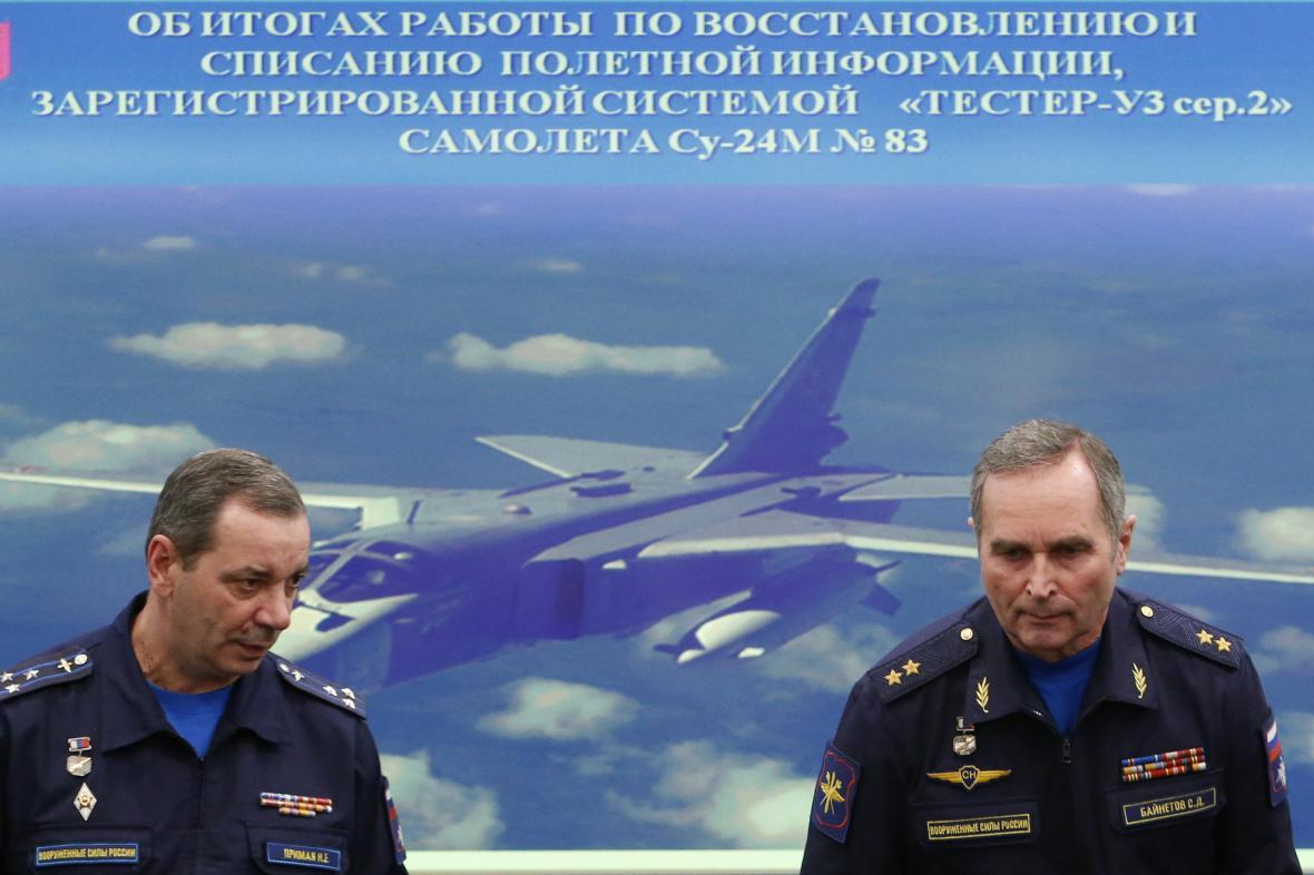 Brífink ruské armády k sestřelení bombardéru Suchoj