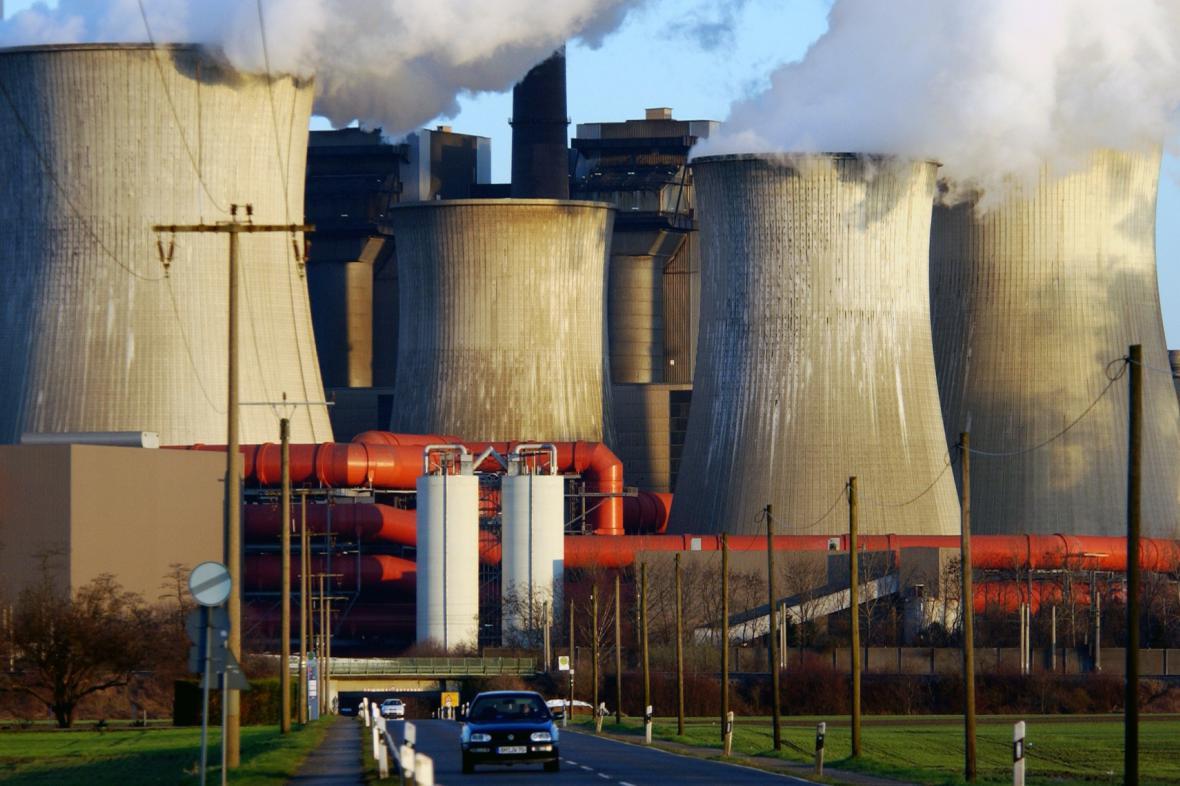 Hnědouhelná elektrárna v Německu