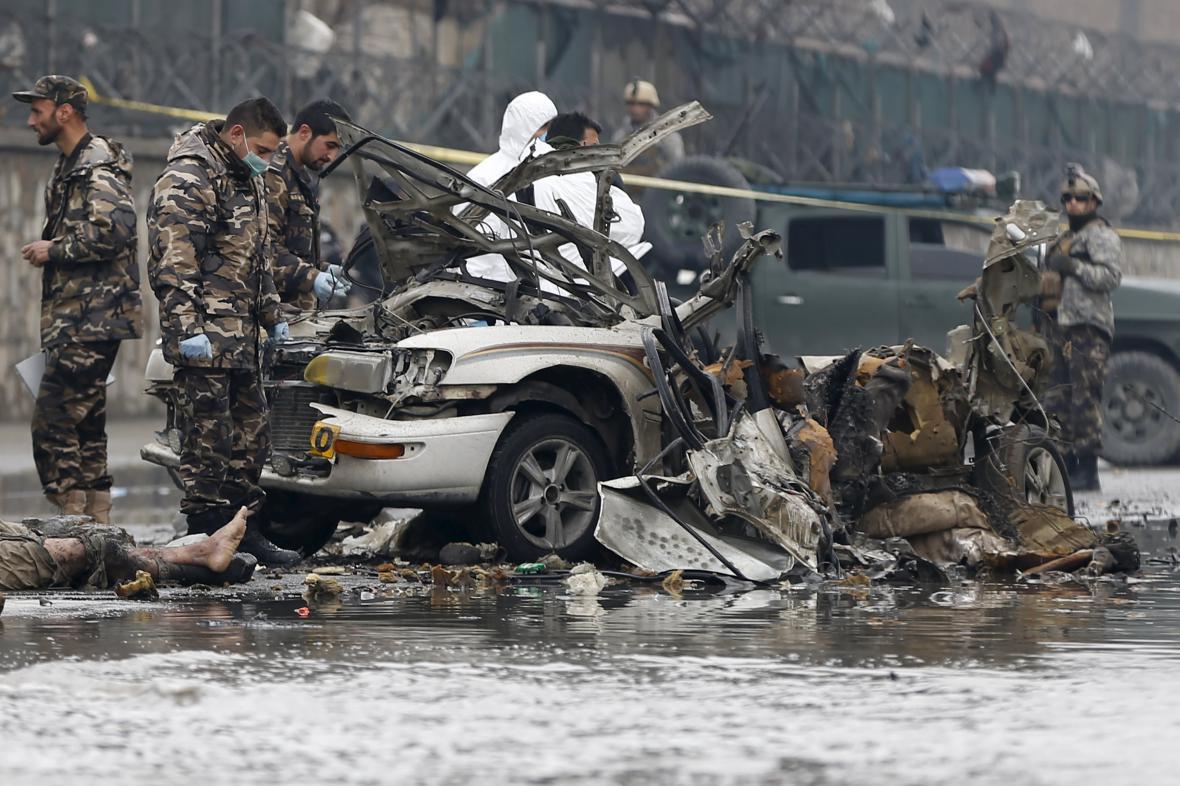 Sebevražedný útok v Kábulu