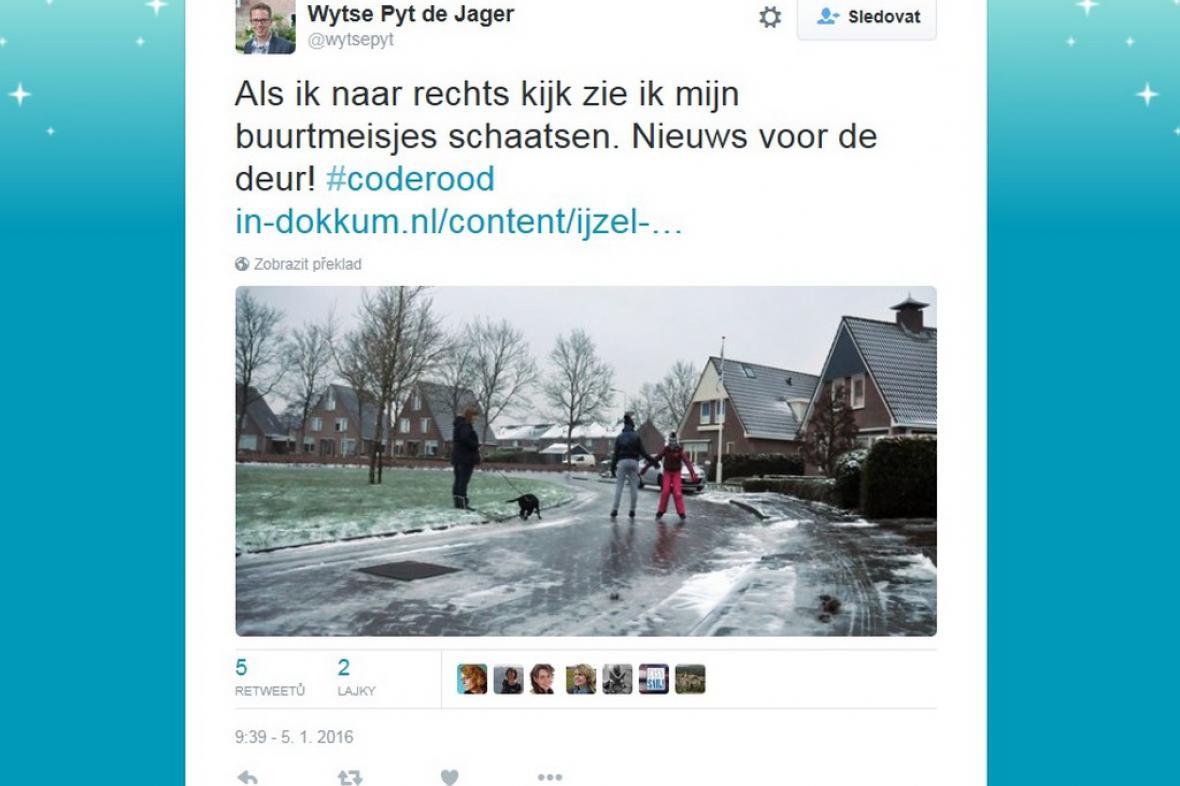 Nizozemci bruslí v ulicích
