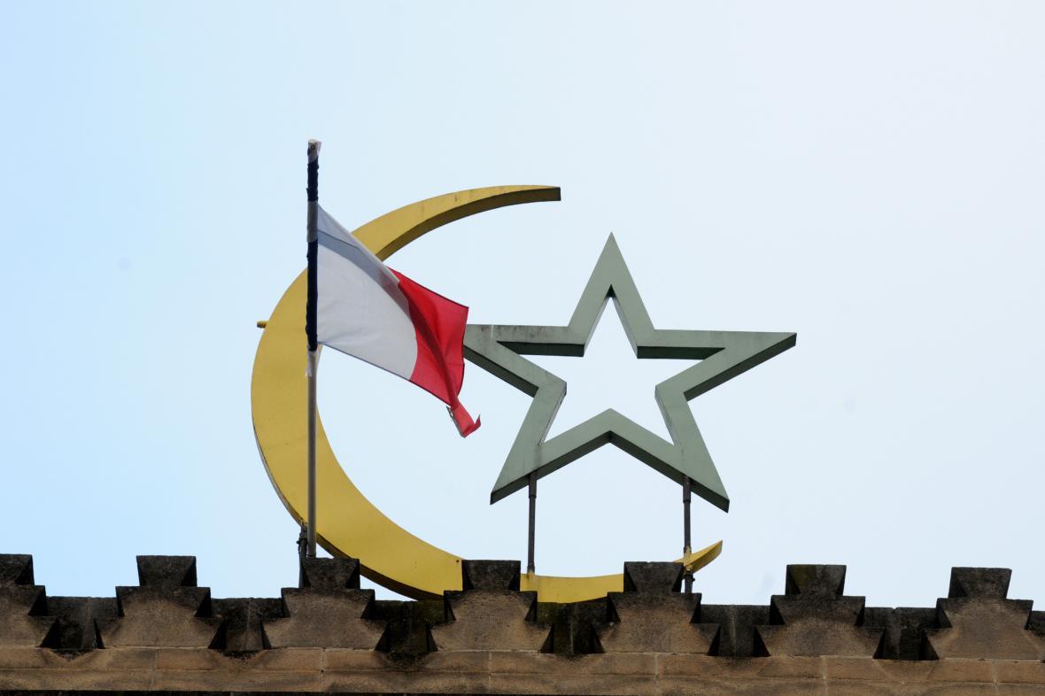Střecha Velké mešity v Paříži