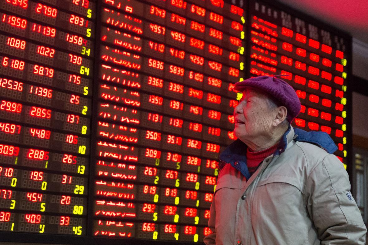 Čínská akciová burza